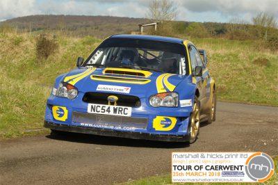 Forresters Car Club Tour of Caerwent Bob Fowden Subaru Impreza WRC