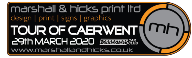 Forresters Car Club Tour of Caerwent 2020 Marshall & Hicks Print Ltd