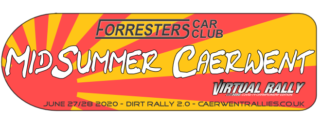 Forresters Car Club MidSummer Caerwent 2020 Virtual Rally Dirt Rally 2.0